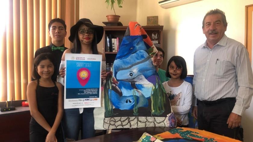 Tres niñas tijuanenses y un niño rosaritense, representarán el estado para compartir la historia y gastronomía de la entidad.(Cortesía)