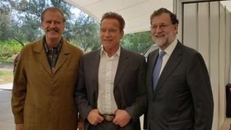 """Schwarzenegger se despidió del público al estilo Terminator: """"Hasta la vista, baby""""."""