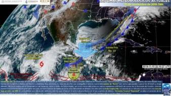 Se prevé que el ciclón tropical Raymond se ubique al sur de Baja California Sur, lo que ocasionará principalmente en horas de la tarde y noche lluvias muy fuertes.