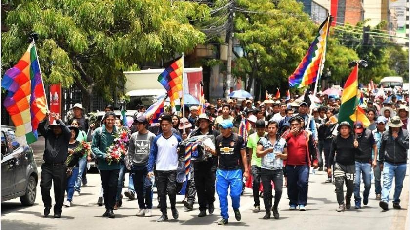 El Gobierno transitorio de Bolivia ordenó este sábado una investigación de los sucesos y abrigó la hipótesis de que varios de los fallecidos murieron por disparos que supuestamente provinieron del lado de los manifestantes.(EFE)