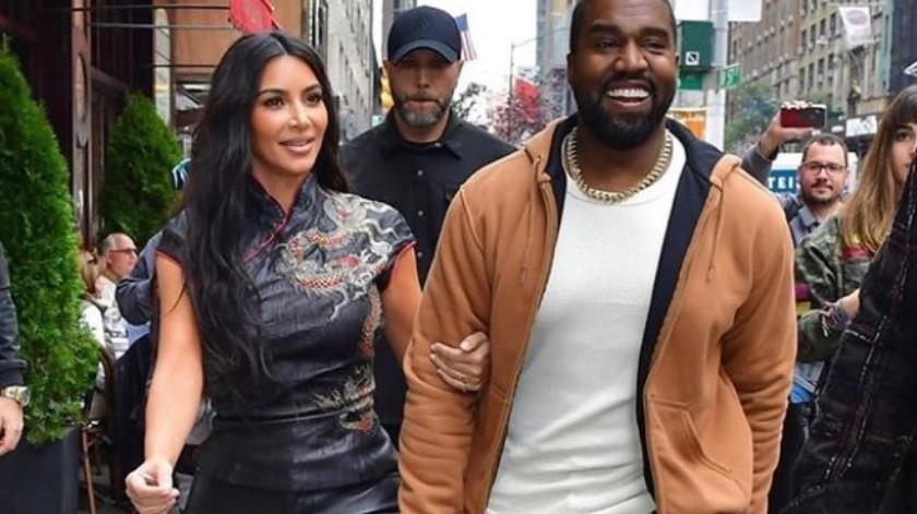 Kim Kardashian y Kanye West(Instagram)