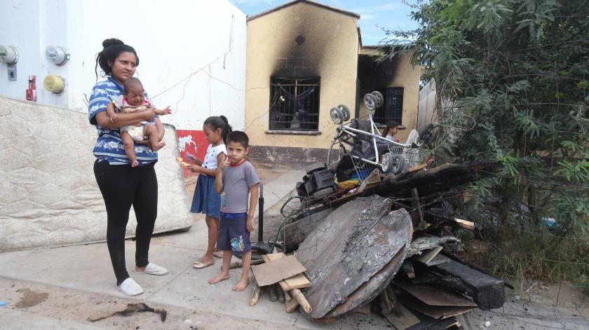 Familia de ocho integrantes se queda sin nada; necesitan apoyo(Teodoro Borbón)