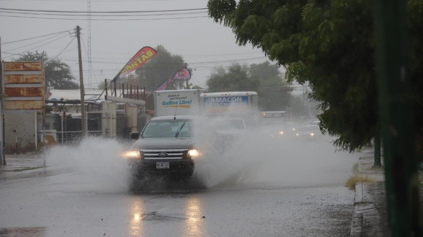 """La depresión tropical """"Raymond"""" ha generado lluvias en la capital de Sonora y en otros municipios."""