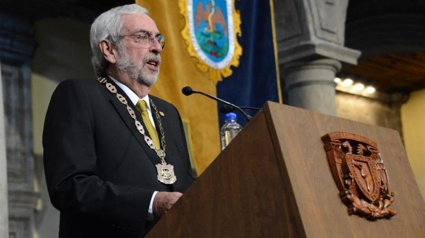 Enrique Graue asumió este martes su segundo mandato al frente de la Universidad Nacional Autónoma de México.(EFE)