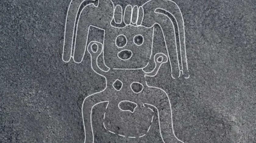 """Encuentran más de 140 nuevas líneas de Nazca, entre ellas un """"humanoide""""(Cortesía)"""