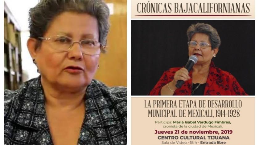 Nacida en Mexicali el 11 de junio de 1953, Isabel Verdugo Fimbres cursó sus estudios básicos en San Luis Río Colorado, Sonora.(Cortesía)