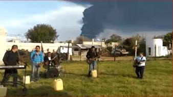 El incidente se registró durante la tarde de este miércoles en una planta de rebombeo de Pemex, la cual se encuentra localizada en los límites entre Tetepango y Tlahuelilpan.