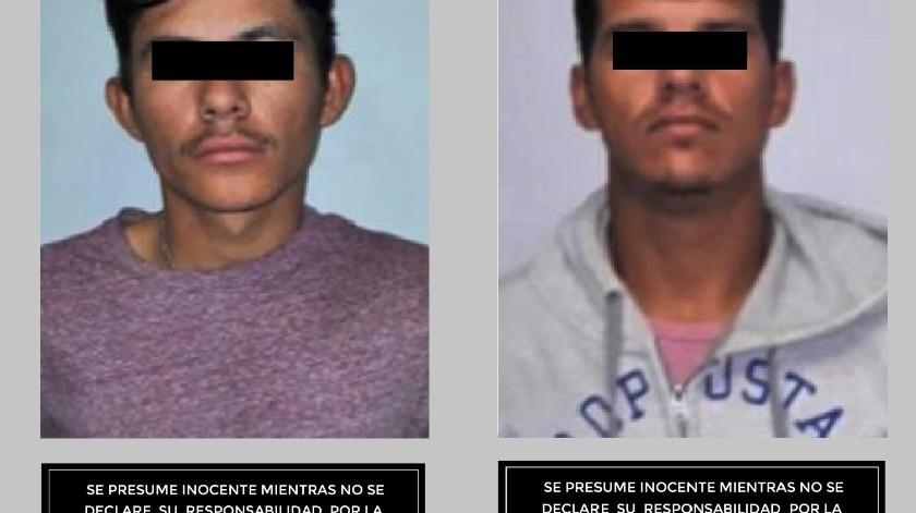 """Se detuvo a quienes dijeron llamarse Carlos """"N"""" y David """"N"""", y se les encontró en posesión de una arma de fuego tipo pistola con cartuchos útiles y un cargador.(Cortesía)"""