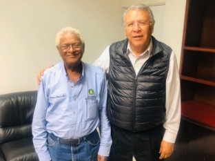 Sanjaya Rajaram, conocido científico hindú se reunió con el titular de la Secretaría del Campo y Seguridad Alimentaria de Baja California, Héctor Haros Encinas