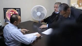 El pasado martes Amador Rodríguez presentó la denuncia ante la Fiscalía General del Estado.