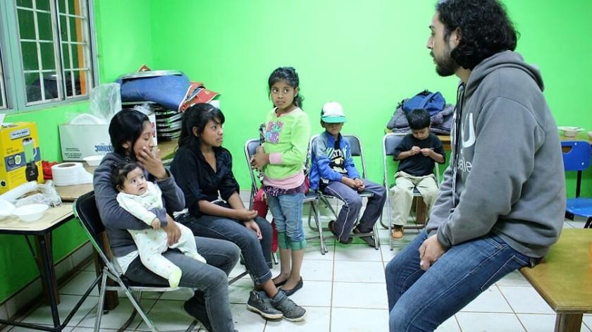 También en forma preventiva se habilitó el refugio temporal en las oficinas de DIF Ensenada.(Cortesía)