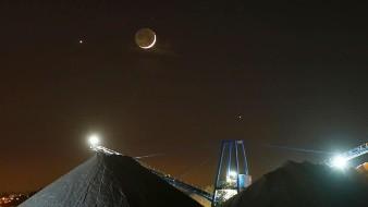 FOTOS: La Luna, Venus y Júpiter se alinean hoy ¡pasa cada 24 años!