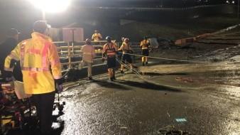 Siete de los rescatados fueron trasladados a un hospital local para cuidados.