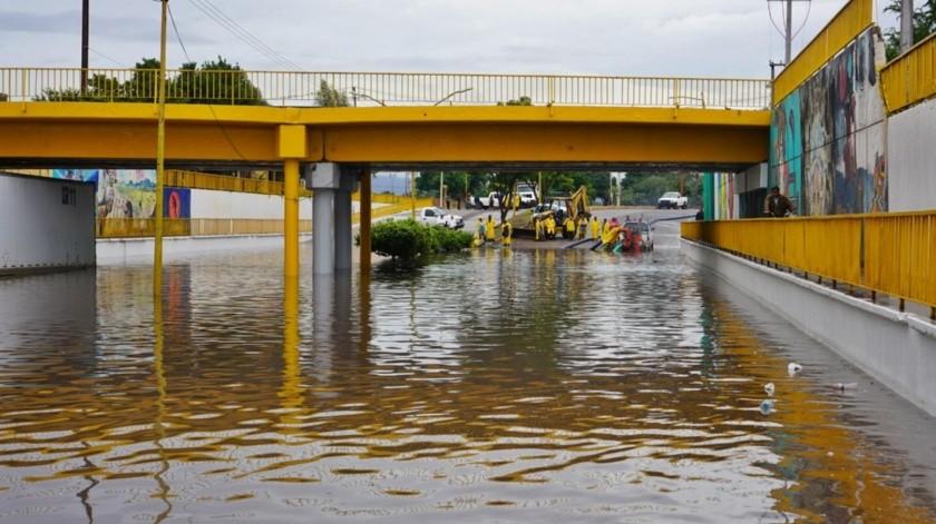 Días lluviosos dejaron mucha agua en la región del Yaqui.(Susana Arana)