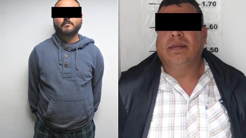 """Los detenidos son Óscar """"N"""", de 31 años de edad y  Fernando """"N"""", de 40 años.(Cortesía)"""
