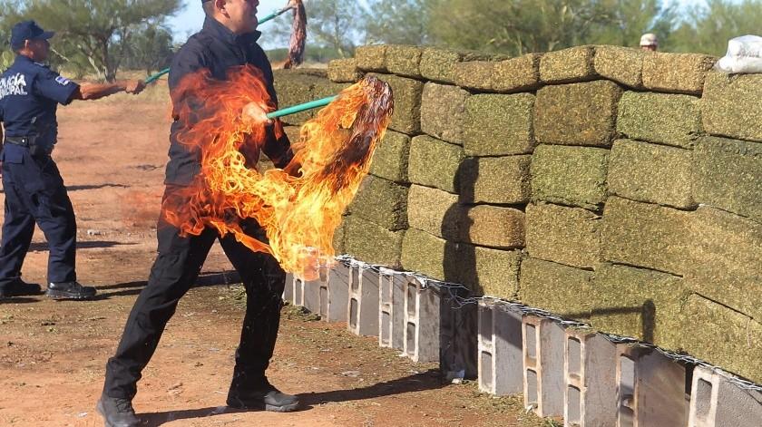 Incineran droga en Hermosillo; arden toneladas(Anahí Velásquez)