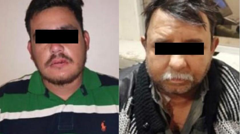 """Los detenidos están identificados como Juan """"N"""", de Tijuana, y Víctor """"N"""", de Michoacán.(Cortesía)"""