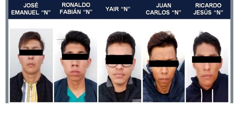 Capturan a 5 jóvenes por abusar sexualmente de menores en Jalisco(Especial)