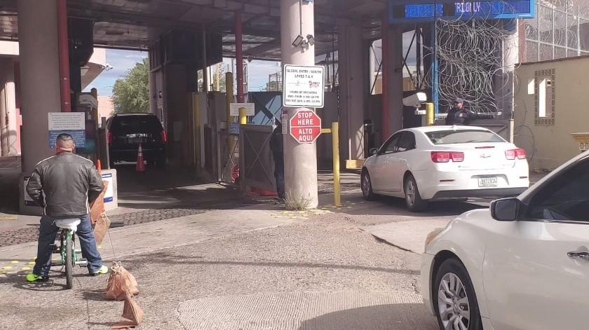 Se reforzó la vigilancia en las garitas de Nogales.(Rubén Ruiz)