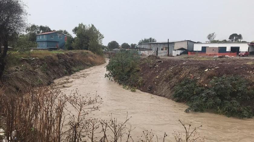 En la colonia Huahuatay también se registraron algunas inundaciones debido al creciente del arroyo.(Carmen Gutiérrez)