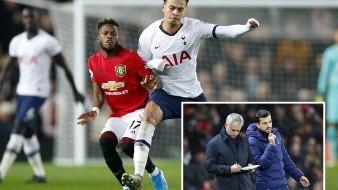 ¿Venganza? Tottenham de Mourinho cae ante Manchester United