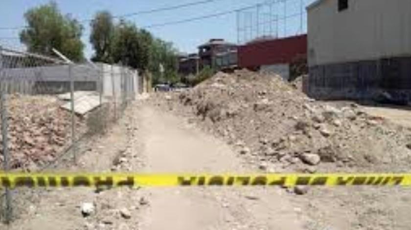 Un hombre maniatado fue encontrado sin vida esta mañana en la colonia Ejido Maclovio Rojas.(Sergio Ortiz)