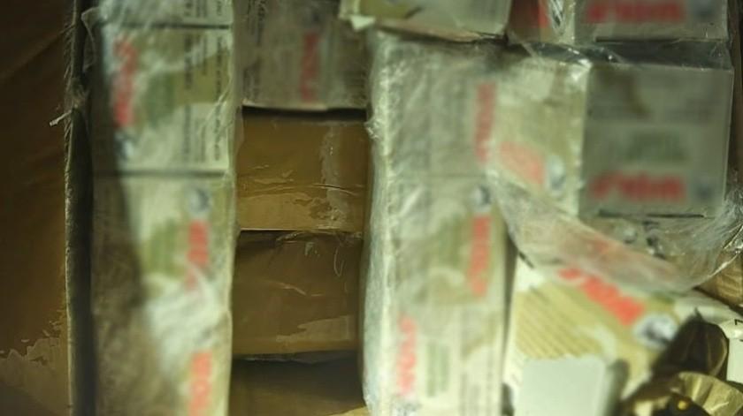 Ante la posible comisión de un delito, los objetos asegurados, fueron puestos a disposición del Agente del Ministerio Público federal.