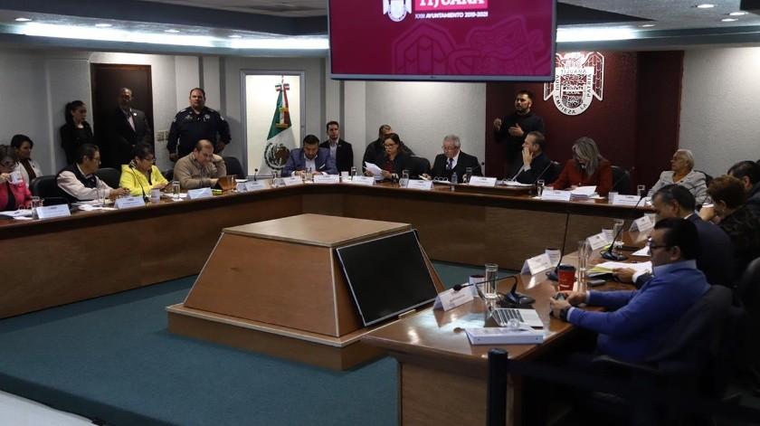 Este viernes se realizó sesión de Cabildo.(Sergio Ortiz)