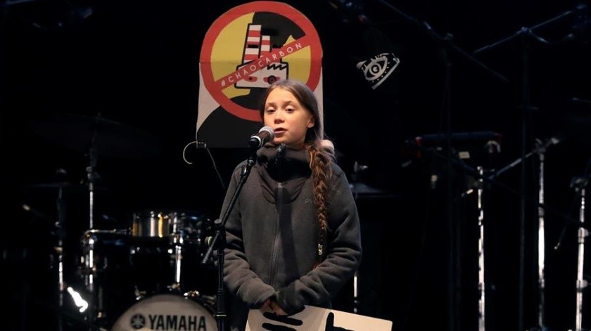"""En su intervención, con la que se cerró la Marcha por el Clima de Madrid, la adolescente ha subrayado que los políticos """"tienen que hacer su trabajo""""."""