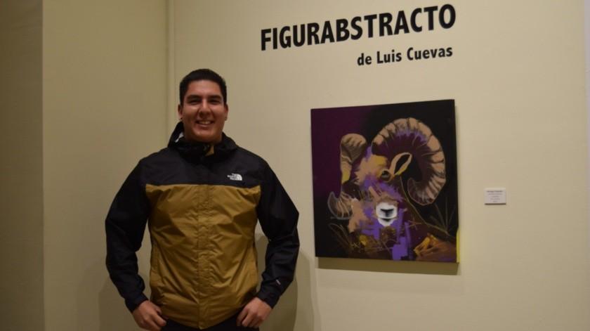 La exposición es del joven artista Luis Cuevas originario del municipio de Tecate.(Cortesía)