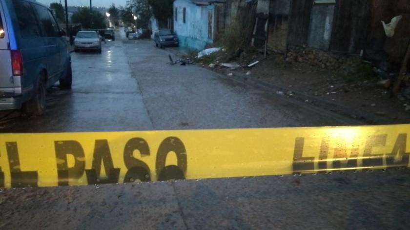 Un hombre fue ejecutado en la calle Artículo 123 de la colonia Esperanza en la delegación Sánchez Taboada.(Margarito Martínez)
