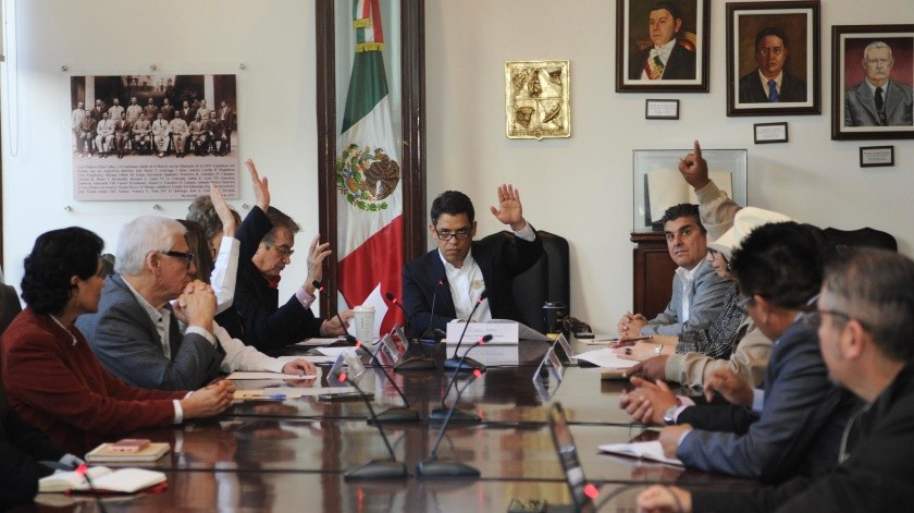 Francisco Quiroga Fernández, subsecretario de Minería de la Secretaría de Economía federal, en una reunión en Palacio de Gobierno.(EL IMPARCIAL)