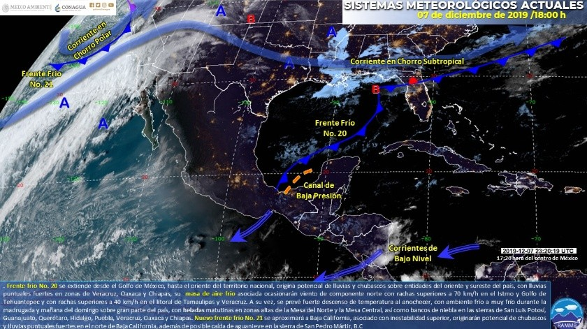 Pronostican heladas en Sonora para mañana; lluvias en BC para hoy(Twitter)