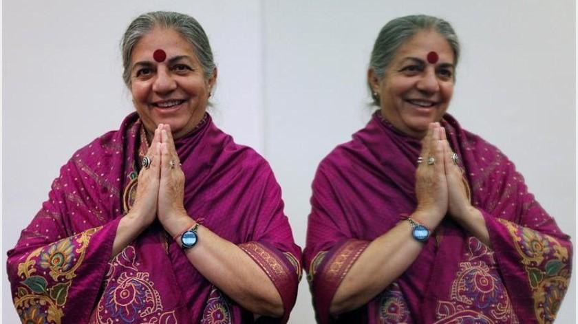 """Shiva (Dehradun, 1952), filósofa originaria de la India y referente en la lucha por los derechos ambientales, aseguró que hay una """"sexta extinción"""" que está en marcha y """"es una gran realidad"""".(EFE)"""