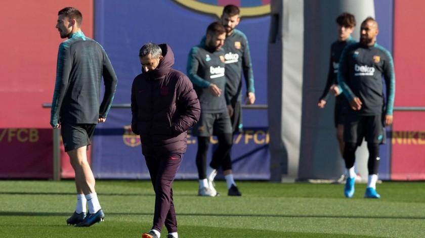Messi, Piqué y Sergi Roberto, las ausencias del Barça contra el Inter.(EFE)