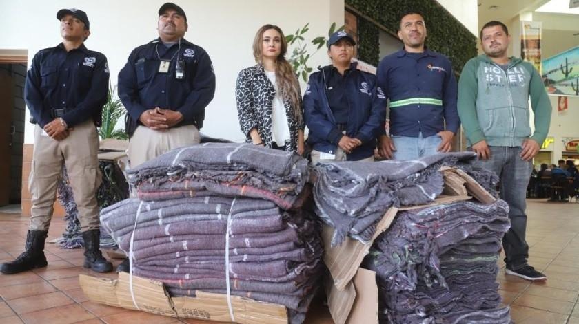 El centro comercial Macroplaza se unió al Cobertón 2019 que el PERIÓDICO FRONTERA organiza para brindar una navidad calientita a las familias de escasos recursos de Tijuana.(Jesús Bustamante)