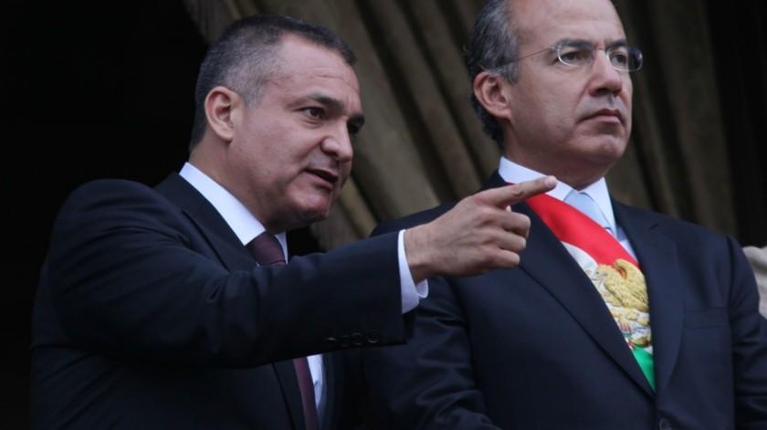Genaro García Luna y Felipe Calderón(Agencias)