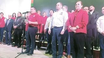 La nueva dirigencia local del PRI.