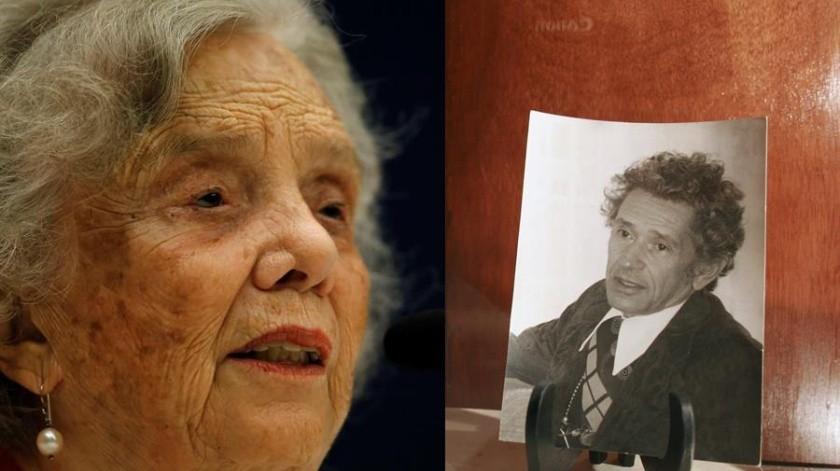 Combo de fotografías de archivo que muestran a la premio Cervantes 2013, Elena Poniatowska, y al escritor mexicano Juan José Arreola.(EFE)