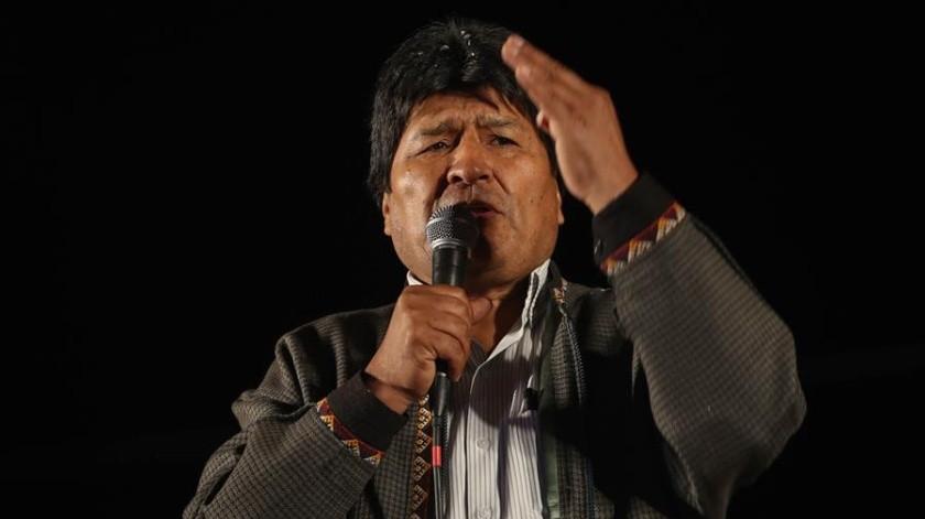 """El ex mandatario recordó que """"el pueblo boliviano, junto al proceso de cambio, luchó por recuperar"""" los recursos naturales de su país.(EFE)"""