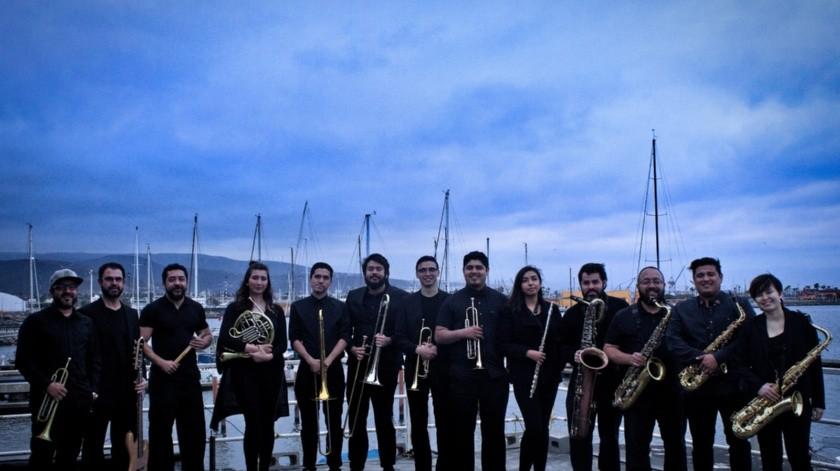 La Covacha Big Band, proveniente de Ensenada y dirigida por el trompetista Iván Trujillo(Cortesía)