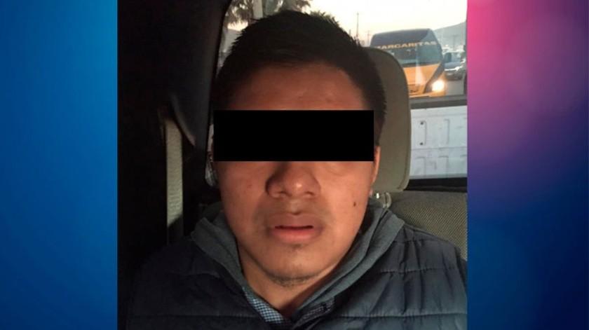 """El detenido está identificado como José Daniel """"N"""".(Cortesía)"""
