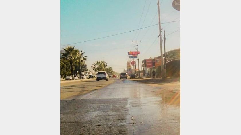 Se ha considerado efectuar el cierre de la vialidad, en por lo menos dos carriles de circulación de norte a sur, a la altura del Hospital General de Ensenada.(Cortesía)