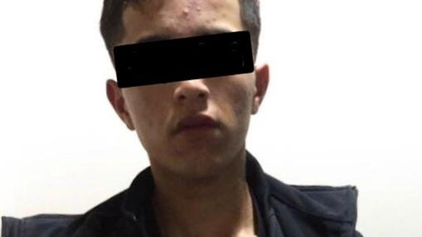 """El detenido está identificado como José """"N"""", de 26 años, """"El Chucky"""".(Cortesía)"""