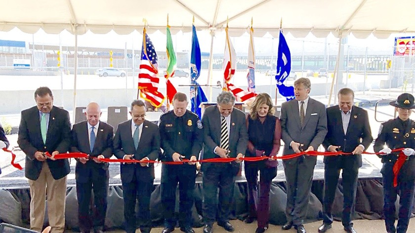 Autoridades de Estados Unidos y México acudieron a la ceremonia.(Ana Gómez Salcido)