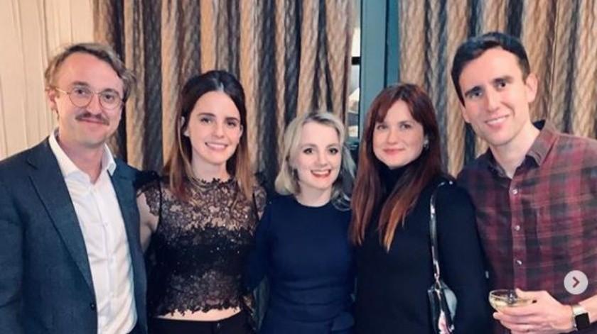 Elenco de 'Harry Potter' se reúne.(Instagram/Tom Felton)