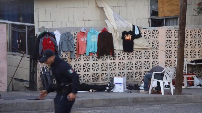 El ataque se registró mientras las víctimas vendían ropa.(Gustavo Suárez)