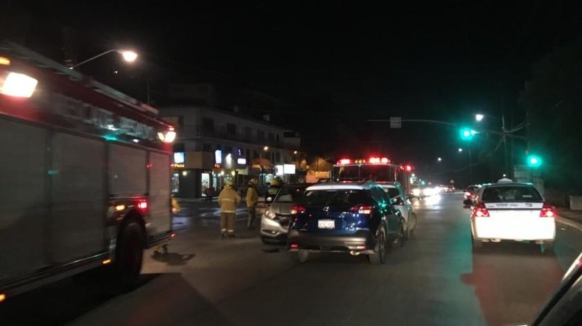 En el accidente fueron embestidos dos autos que circulaban rumbo a la colonia La Sierra.(GH)