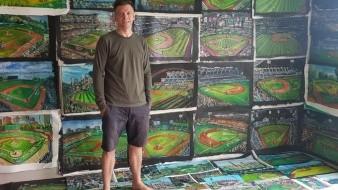 El pintor Andy Brown visita hoy el Estadio Sonora para plasmar su pasión