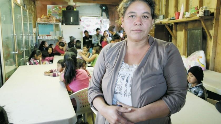 Fundadora de un desayunador para menores de escasos recursos.